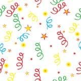 Confettien en de sterren Stock Fotografie