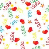 Confettien en het hart Royalty-vrije Illustratie