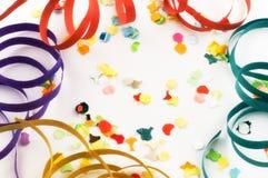 Confettien en wimpels royalty-vrije stock foto
