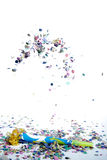Confettien het vallen Stock Foto's