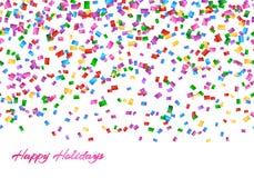 Confettien naadloos patroon Royalty-vrije Stock Afbeeldingen