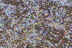 Confettien op de straat Royalty-vrije Stock Fotografie