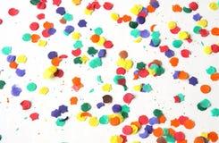 Confettien op een witte achtergrond Stock Fotografie