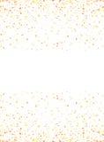 Confettien op witte achtergrond worden geïsoleerd die Vector abstracte kleurrijke achtergrond Stock Afbeeldingen