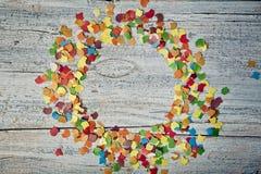 Confettiencirkel stock foto