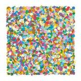 Confettienhoop - als Squarish-Achtergrond wordt gevormd die Kleurrijke Vectorillustraton! royalty-vrije illustratie