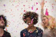 Confettienpartij stock foto's
