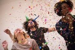 Confettienpartij royalty-vrije stock afbeelding