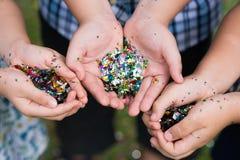 confettis Photos libres de droits