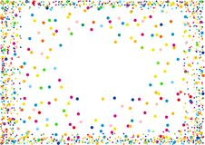 Confettis illustration stock