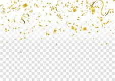 Confettis abstraits d'or de célébration de fond Fond de vecteur illustration stock