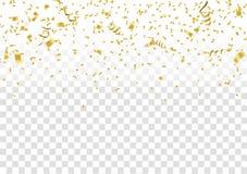 Confettis abstraits d'or de célébration de fond Fond de vecteur illustration libre de droits