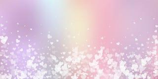Confettis blancs d'amour de coeur Fallin de Saint-Valentin illustration de vecteur