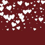 Confettis blancs d'amour de coeur Gradie de Saint-Valentin illustration de vecteur