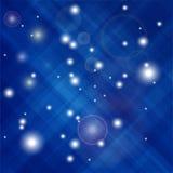 Confettis bleus d'isolement Photographie stock