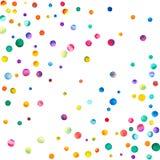 Confettis clairsemés d'aquarelle sur le fond blanc Image libre de droits