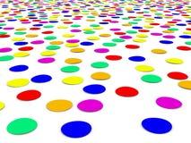 Confettis colorés Photos libres de droits
