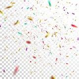 Confettis colorés illustration stock