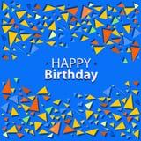Confettis colorés par vecteur des triangles Photo libre de droits