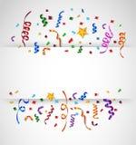 Confettis colorés sur le fond blanc illustration stock