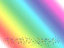 Confettis d'arc-en-ciel Image libre de droits