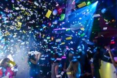 Confettis dans une boîte de nuit Photo libre de droits