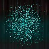 Confettis de fête Fond abstrait de turquoise Photo stock