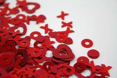 Confettis de Valentines photos stock
