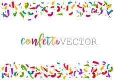 Confettis de vecteur Fond coloré de cadre de célébration Images libres de droits