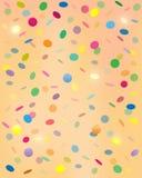 Confettis en baisse Image libre de droits