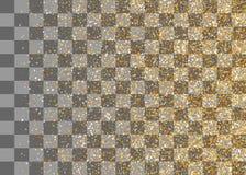 Confettis en baisse aléatoires de miroitement d'or Photos libres de droits