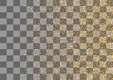 Confettis en baisse aléatoires de miroitement d'or Images libres de droits