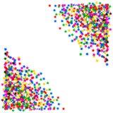 Confettis en forme d'étoile colorés Fond de vacances Photographie stock libre de droits