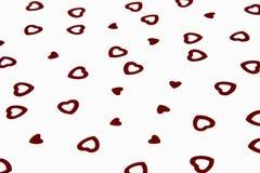 Confettis en forme de coeur de Tableau d'amour rouge Photo libre de droits
