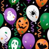 Confettis et ballons de Halloween sans couture Image libre de droits
