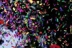 Confettis et flammes Images libres de droits