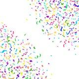Confettis et ruban en baisse lumineux colorés Photographie stock