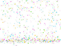 Confettis falling Stock Photography