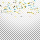 Confettis lumineux colorés d'isolement sur le fond transparent illustration de fête Photo libre de droits