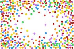 Confettis multicolores colorés Dirigez l'illustration de fête des confettis brillants en baisse, d'isolement sur un transparent Photo libre de droits