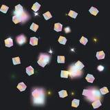 Confettis olographes d'arc-en-ciel illustration stock