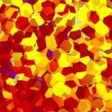 Confettis oranges abstraits d'hexagone Art Background géométrique Éléments de conception Morceaux décoratifs de mosaïque Modèle p Photos libres de droits