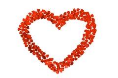 Confettis par coeurs sous forme de coeur D'isolement sur le fond blanc Photos stock