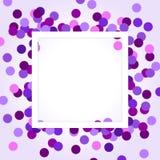 Confettis pourpres Image stock