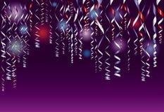 Confettis pourprés Photo libre de droits