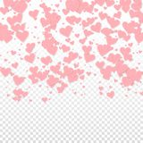 Confettis roses d'amour de coeur La Saint-Valentin gradien illustration stock