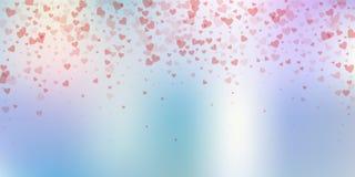 Confettis rouges d'amour de coeur Chute de Saint-Valentin illustration libre de droits