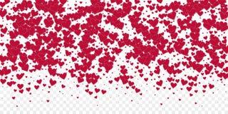 Confettis rouges d'amour de coeur Gradient de Saint-Valentin illustration de vecteur