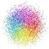 Confettis stylisés par élément coloré de conception d'isolement sur le dos de blanc illustration libre de droits