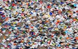 Confettis sur la rue Images libres de droits